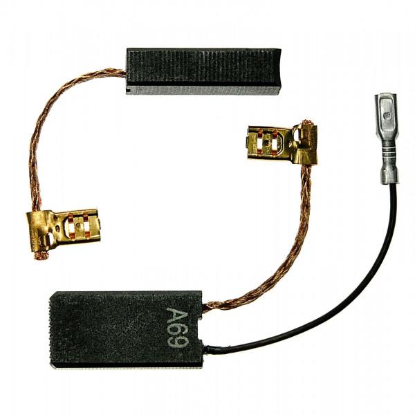 Kohlebürsten für BOSCH GSH 5 E, GBH 7 DE - 6,3x12,5x24,5 mm - PREMIUM (P2060)