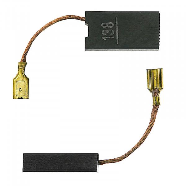 Kohlebürsten für BLACK & DECKER DN 20, GD 3115, DN 17, DN 18 - 6,3x12,5x25 mm - PREMIUM (P2214)